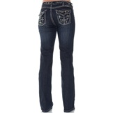 "C01-BPOSST-BLU Women's Cowgirl Tuff ""Believe & It's Possible"""